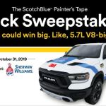 3M ScotchBlue Painters Tape Sweepstakes – Win Truck
