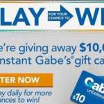 Gabes Back to School Instant Win Game – Win Gift Card