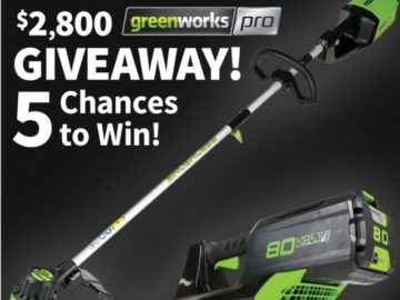 Greenworks Tools Giveaway - Win Prize i Contests hub