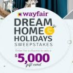 Wayfair's Dream Home For The Holidays Sweepstakes