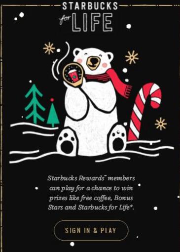 StarbucksForLife.com Collect and Win Reward Game