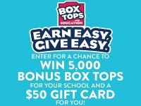 Box Tops For Education Sweepstakes