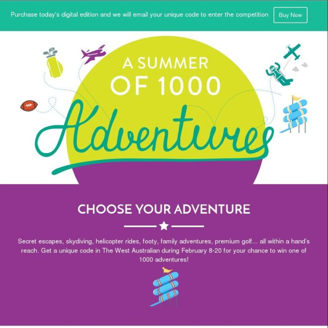 The West Summer of 1000 Adventures Competition