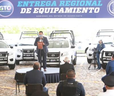 Diego Sinhue entrega equipamiento de seguridad a municipios de la Región 2, Zona Norte del Estado