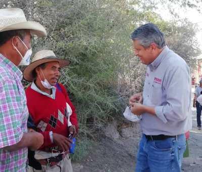Ricardo Ferro, recorrió; Montecillo de la Milpa, La Palma y Rancho Viejo