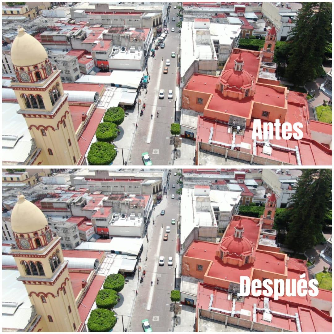Reubican a comerciantes de la calle Morelos; se instalarán en el parque San Agustín