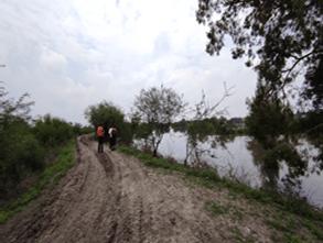 Autoridades continúan con las labores de auxilio tras desbordamiento del Río Turbio