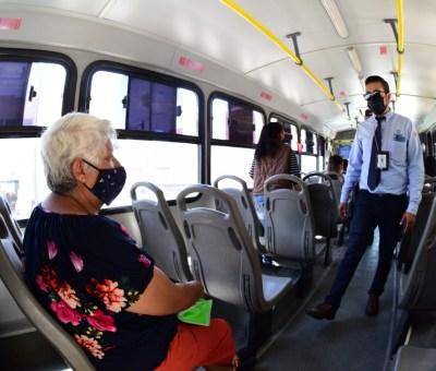Continúa supervisión de medidas sanitarias en transporte público