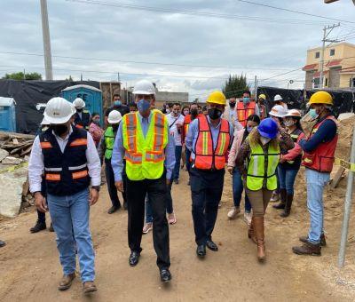 SDES y Municipio de León supervisan obra en beneficio del comercio local