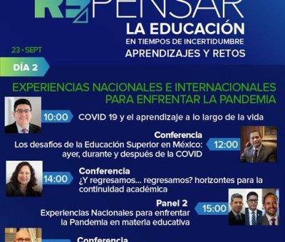 Llevarán a cabo 1er.  Foro Internacional Repensar la Educación en Tiempos de Incertidumbre