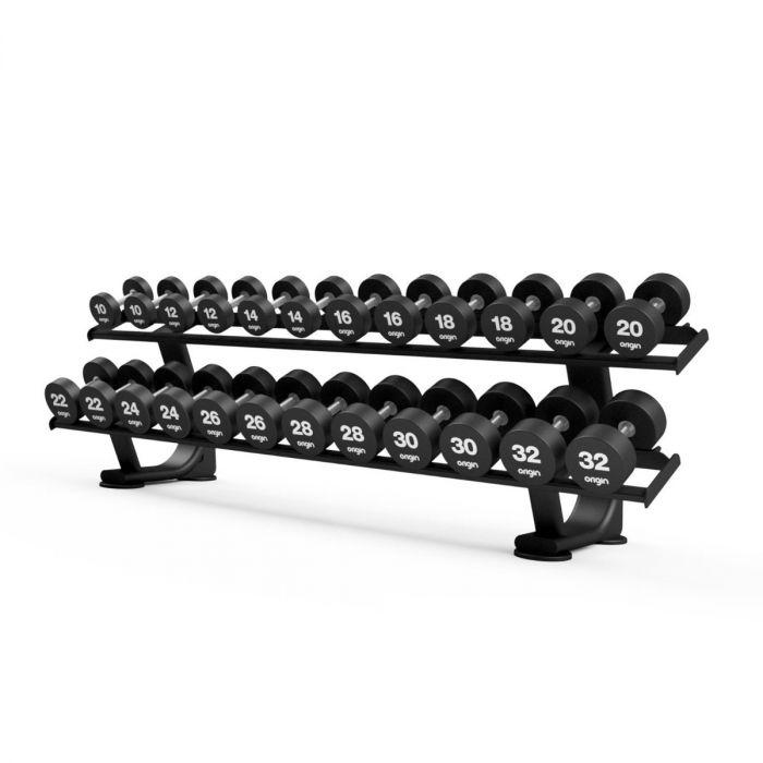 two tier premium dumbbell rack 12 pair