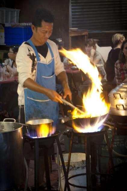 Bangkok Thai Cuisine - A Stir-Fry Station in Bangkok's Chinatown