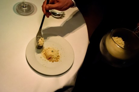 "Restaurant Cinco: ""Benedictine egg"""