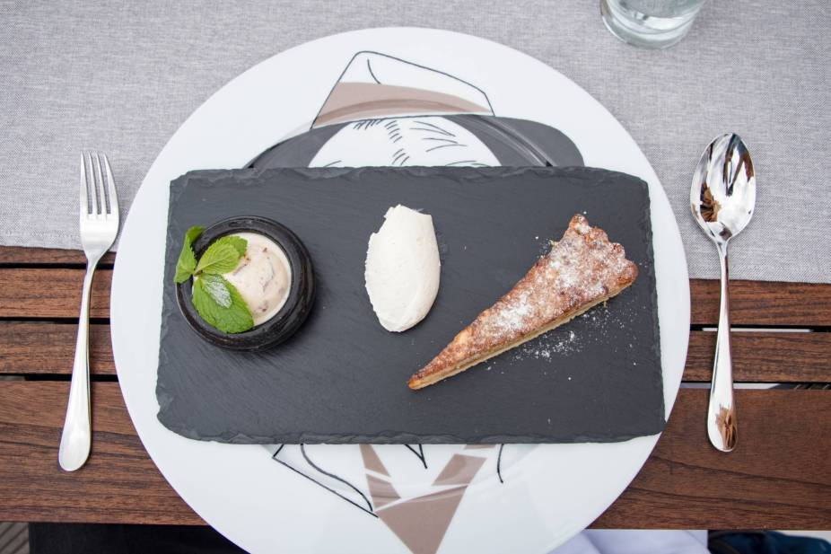 Coda, Prague - Apple Tart on a Slate