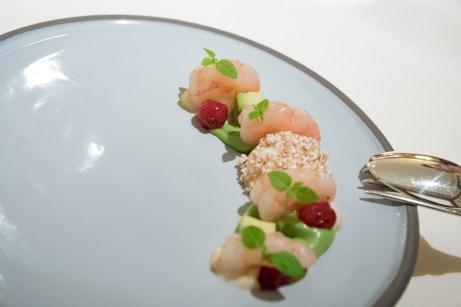 Dallmayr, Restaurant in Munich: Shrimp, avocado, cream
