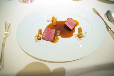 Dallmayr, Restaurant in Munich: fawn, salsify, cream of malt and sea buckthorn