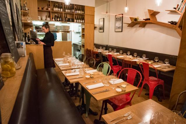 Best places to eat in Paris - Le Timbre, Ms. Peyre at work
