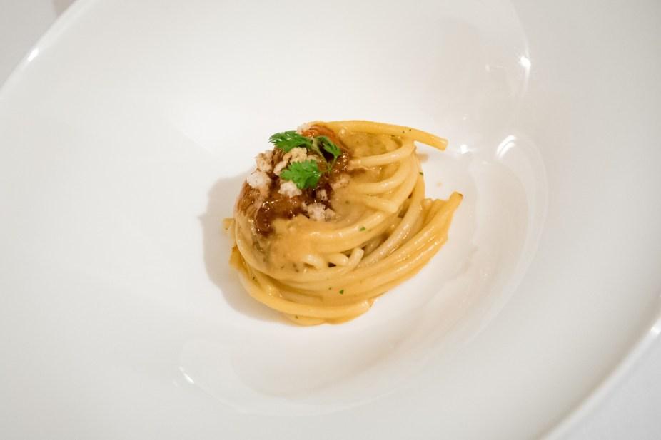 Assaje Restaurant in Rome - Spaghettoni with a sea urchin sauce