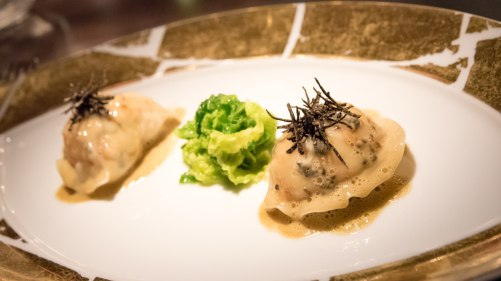 L'Atelier Robuchon in Montreal - Langoustine ravioli with foie gras butter
