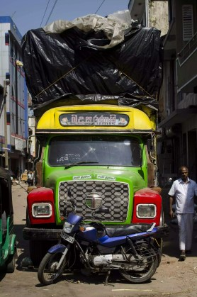 Visiting Sri Lanka: A colored and overloaded bus