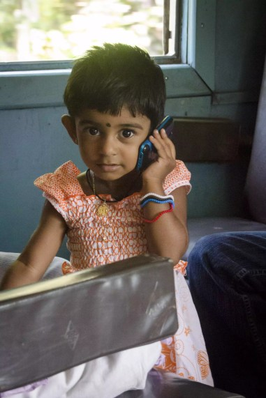 Visiting Sri Lanka: A passenger on a train