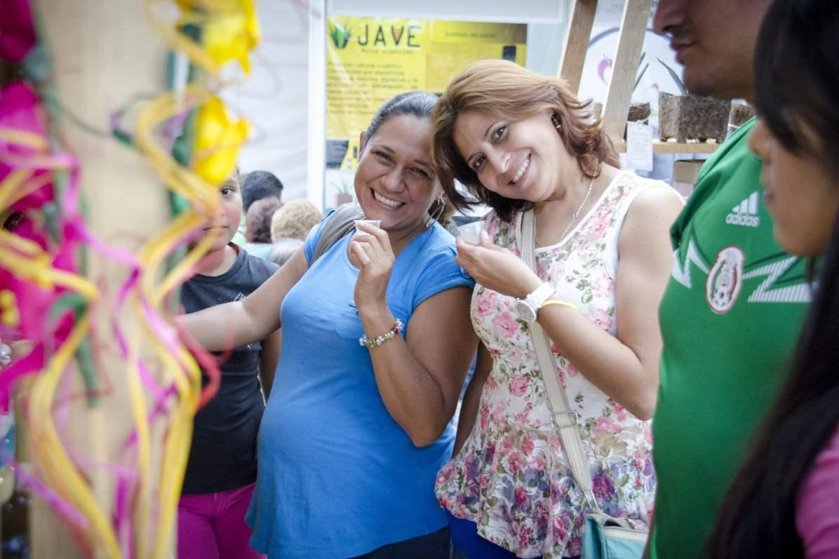 Oaxaca Mezcal Festival: A pregnant lady sipping on hard liquor