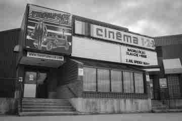 The old cinema in Sept-Îles. Quebec
