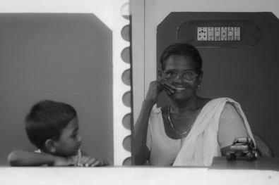 Voyage à Kochi, Inde: Une famille