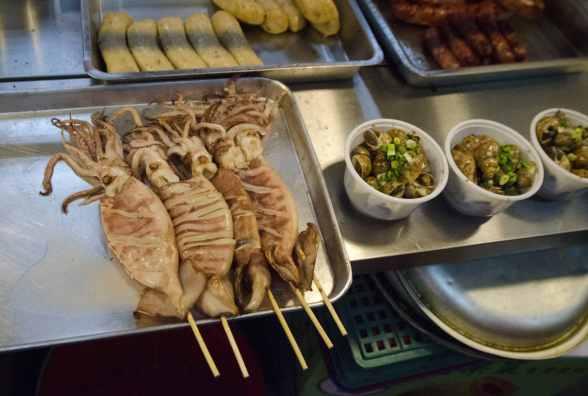 Cuisine de rue à Taïwan: Poulpe grillé
