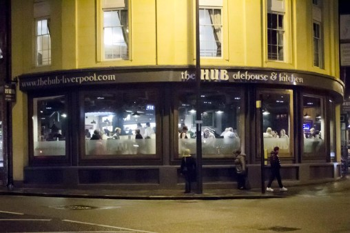 Dîner à Liverpool: The Hub