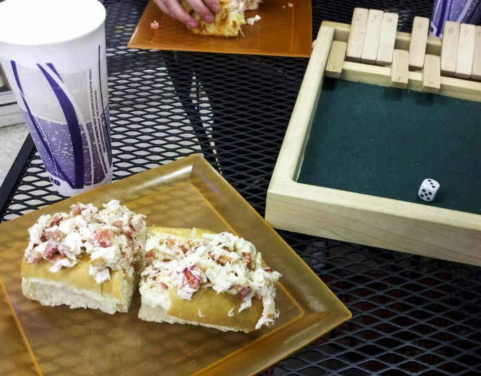 Eating in Portland, Maine: Undisclosed Location, Dice Games, Awesome Lobster Rolls