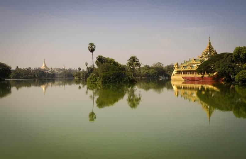 Le lac Kandawgyi