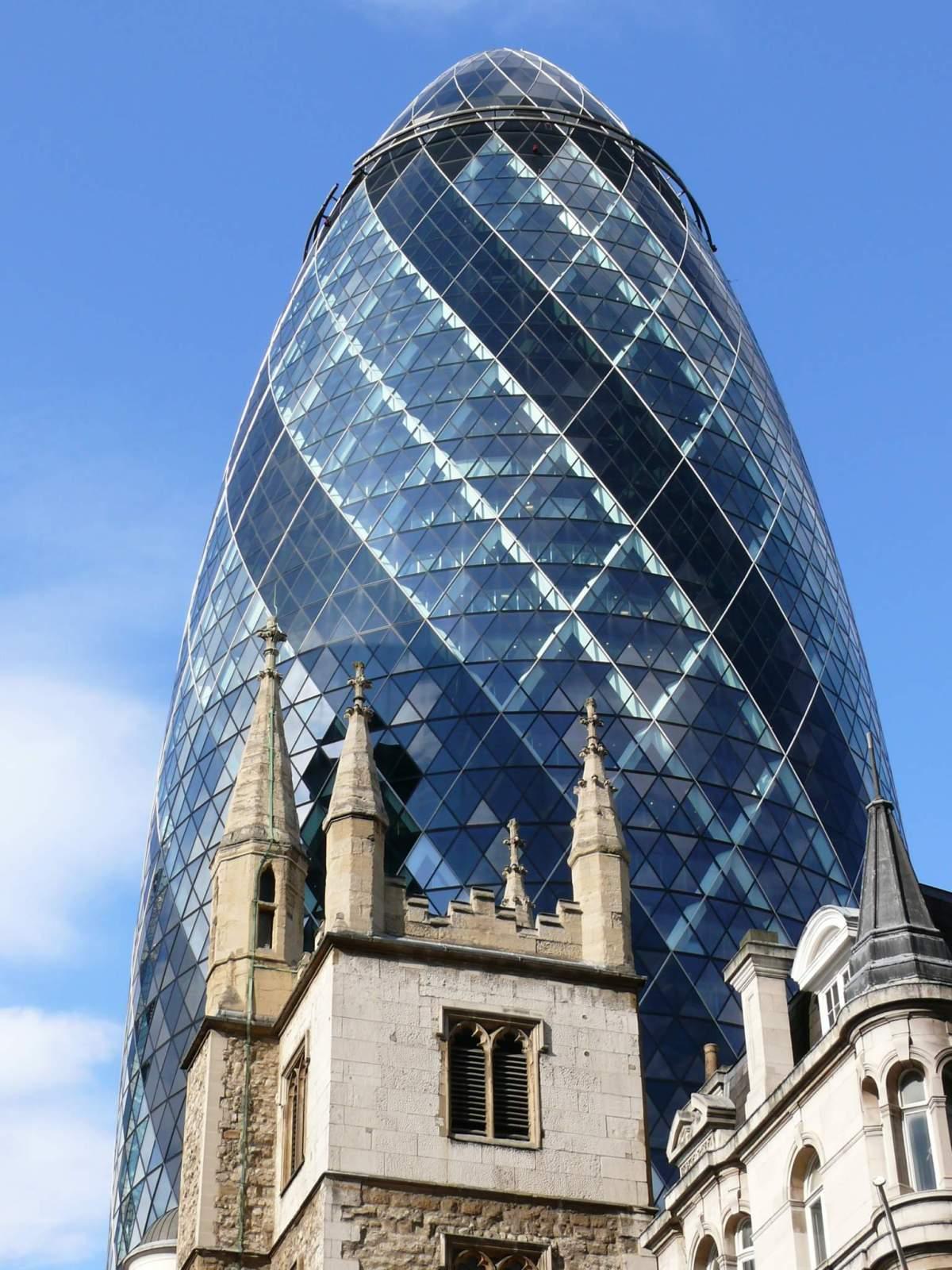 Le Gherkin de Londres - Photo libre de droits