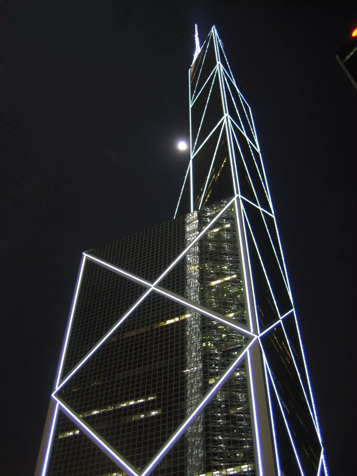 L'immeuble de la Bank of China à Hong Kong - Photo libre de droits