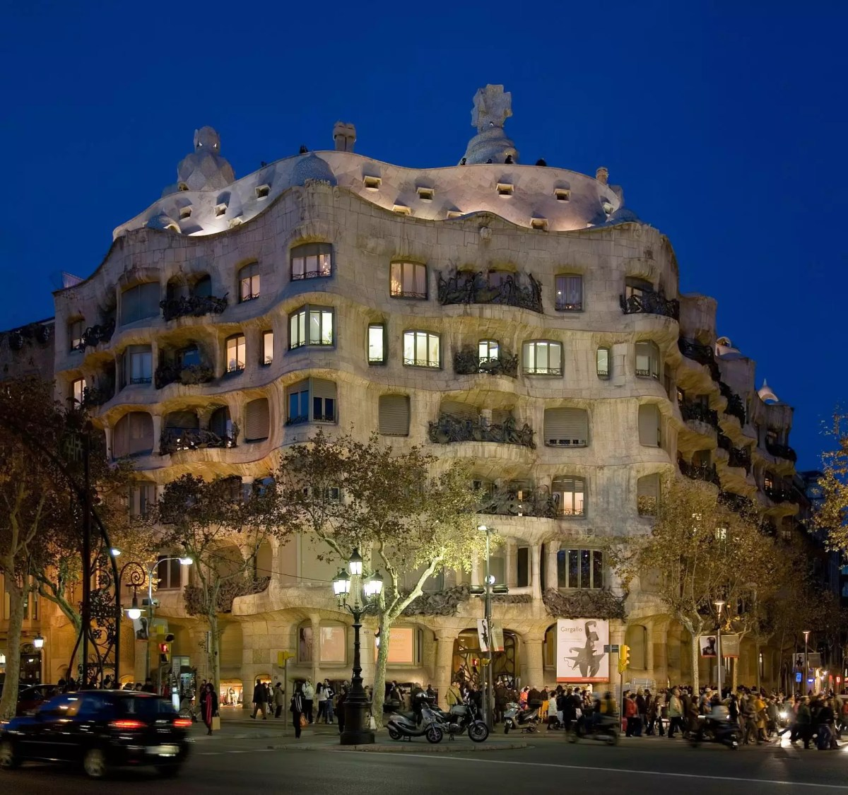 Casa Mila, Barcelone - Photo libre de droits