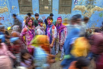 "Holi festival is a traditional Hindu party that celebrates ""the win of the forces of good over the forces of evil"". #india"