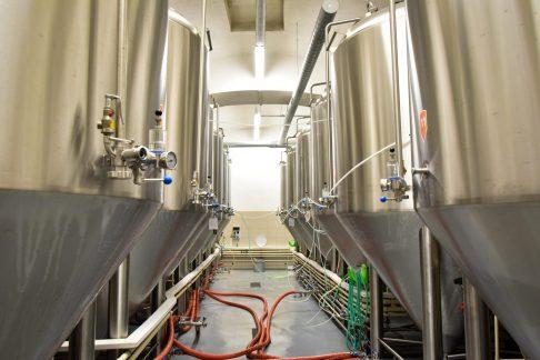 Únětický pivovar - Les cuves de fermentation