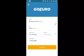 Applications voyage : GoEuro