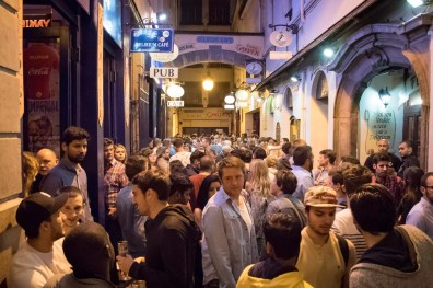 Things to do in Brussels - Delirium Café, a beer bar in Brussles : Impasse de la Fidélité, at night where to stay in Brussels