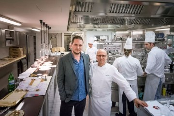 La Pergola, Rome - Cedric Lizotte with chef Heinz Beck
