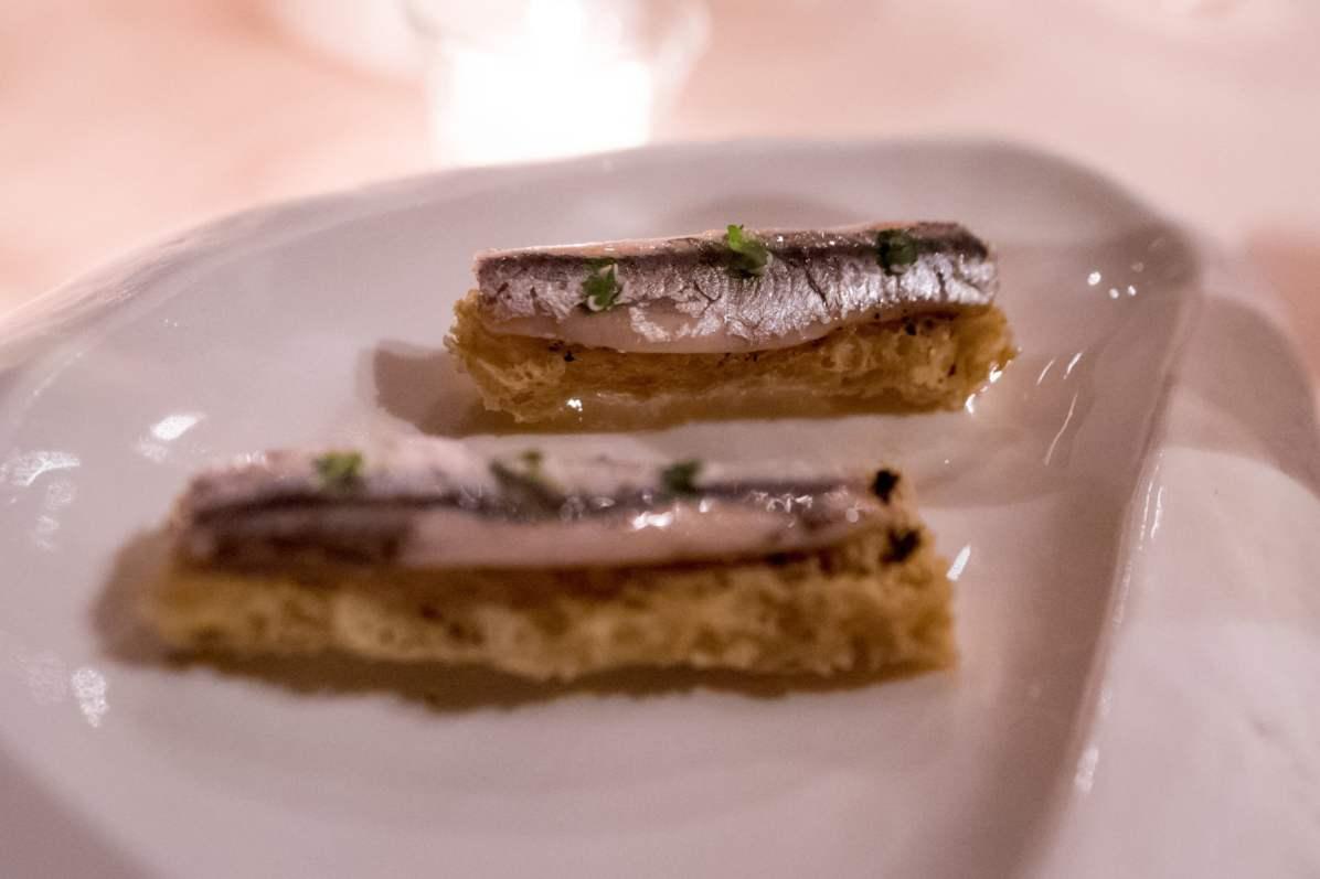 La Pergola, Rome - L'amuse-bouche aux anchois