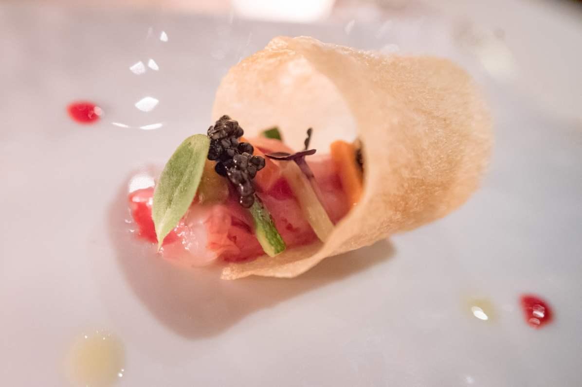 Restaurants à Rome: La Pergola, Rome - Crevette, caviar, croustille
