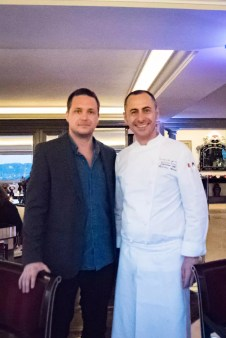 Imago Restaurant in Hassler Hotel Rome - Cedric Lizotte and chef Francesco Apreda