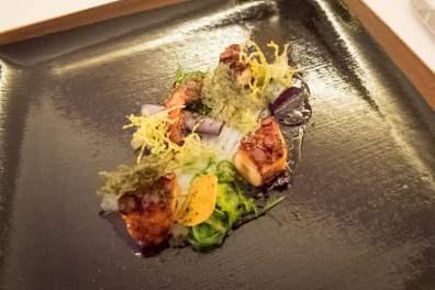 Imago Restaurant in Hassler Hotel Rome - Octopus, seaweed, yuzu, wasabi, sumac