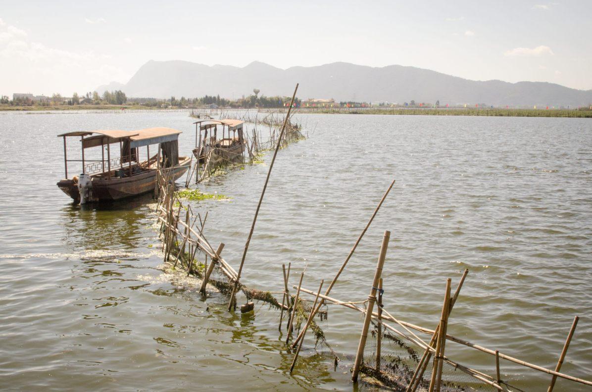 Le lac Dian, près de Kunming, Yunnan, Chine