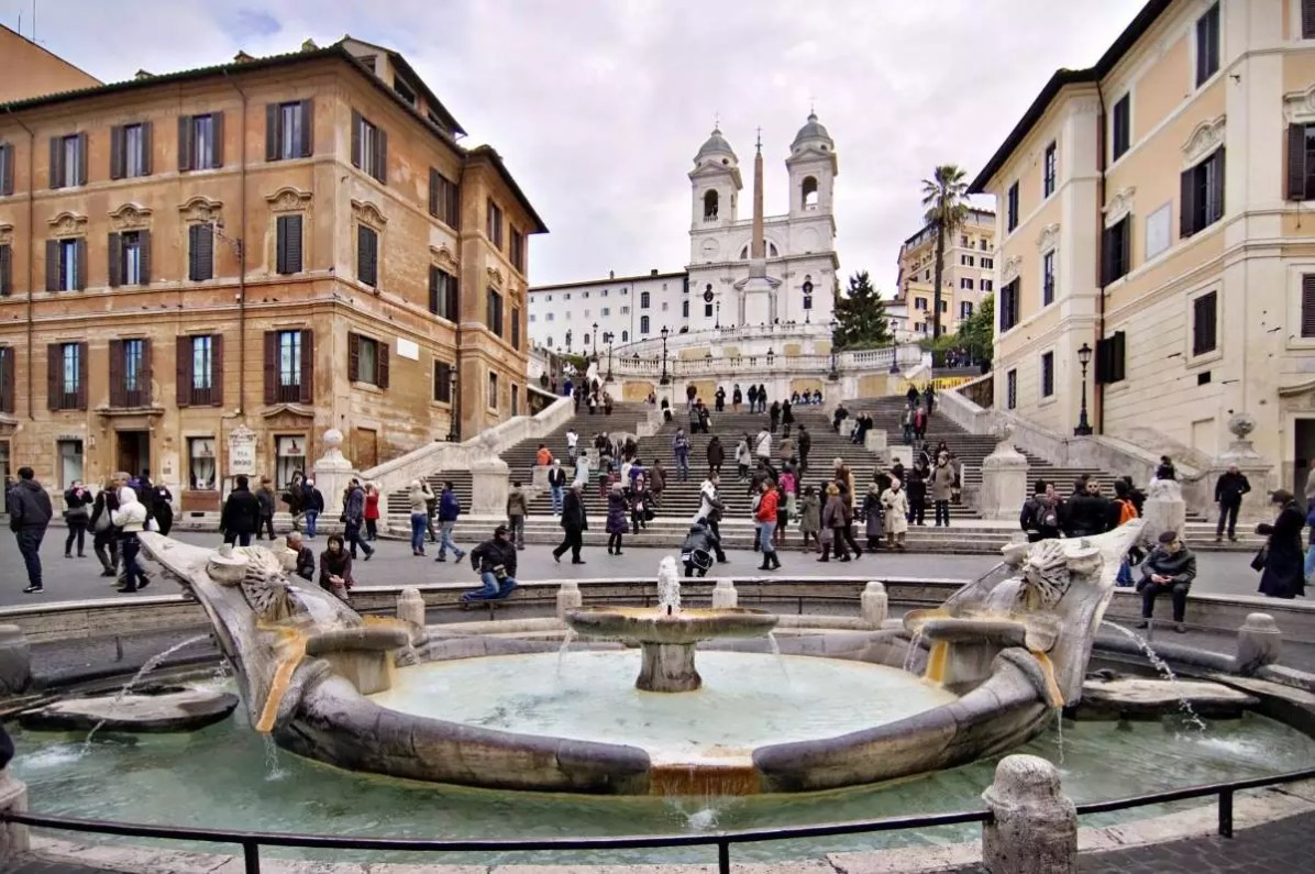 The Spanish Steps - Photo by 2pi.pl under CC BY 3.0