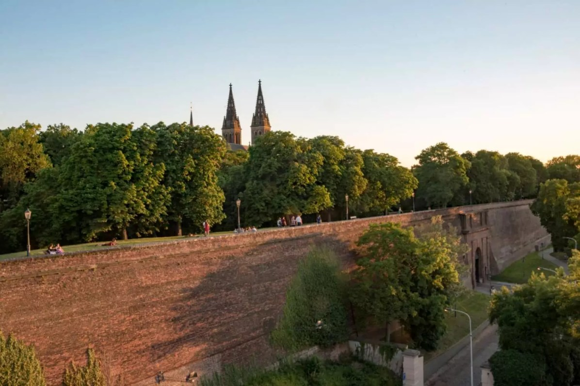 The Vyšehrad fortress and church