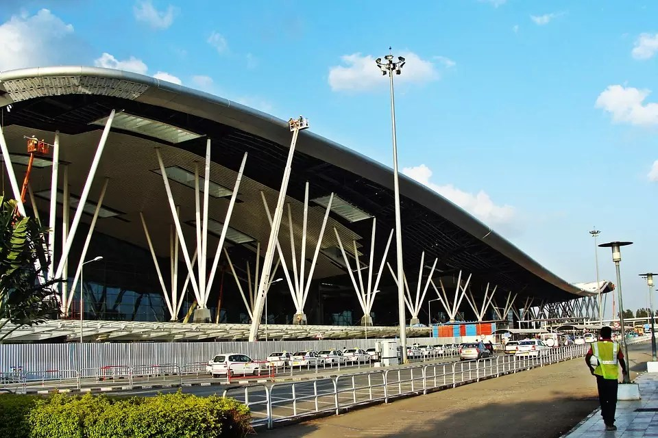 The kempegowda airport of Bangalore - This is a copyright free photo - Things to do in Bangalore Where to stay in Bangalore