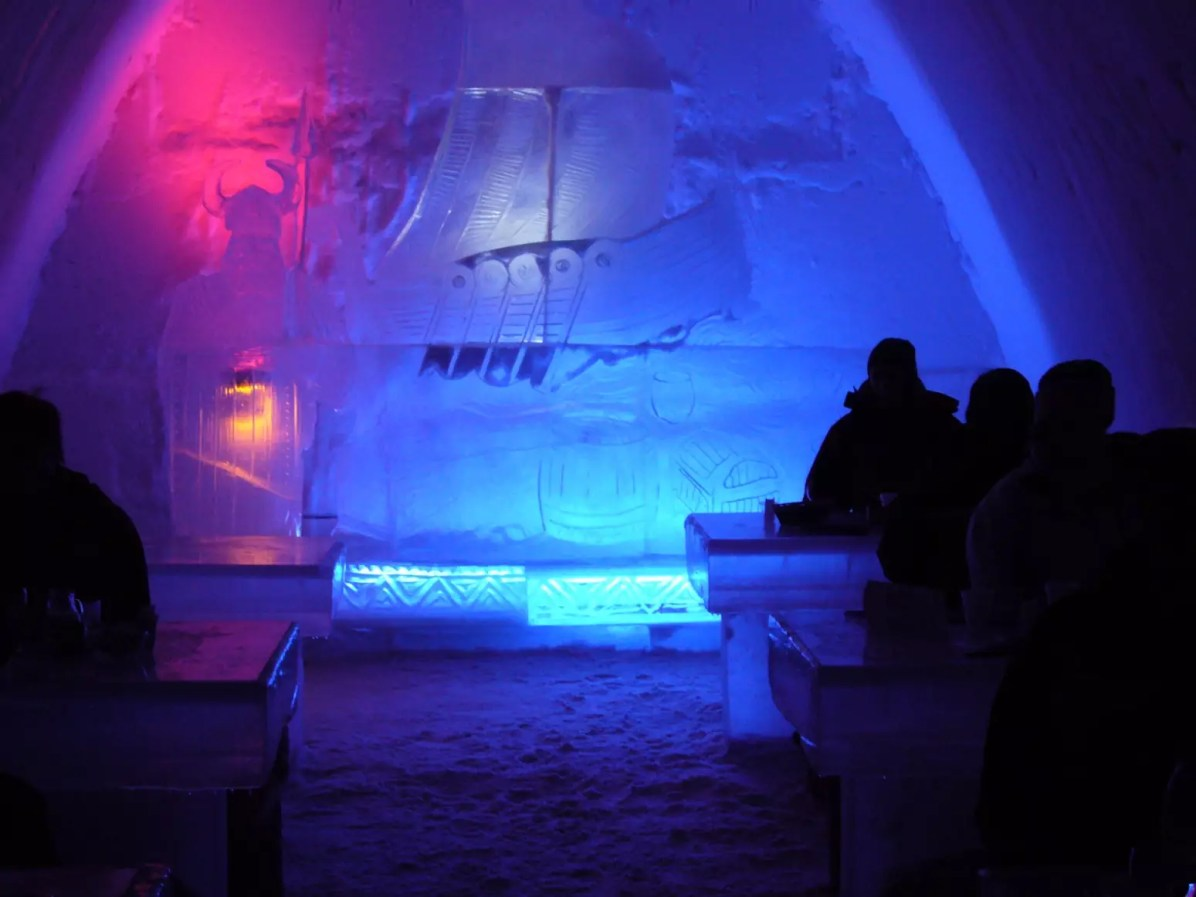 Ice and Snow Hotel - SnowCastle from Kemi, Finland - Royalty Free Stock Photo