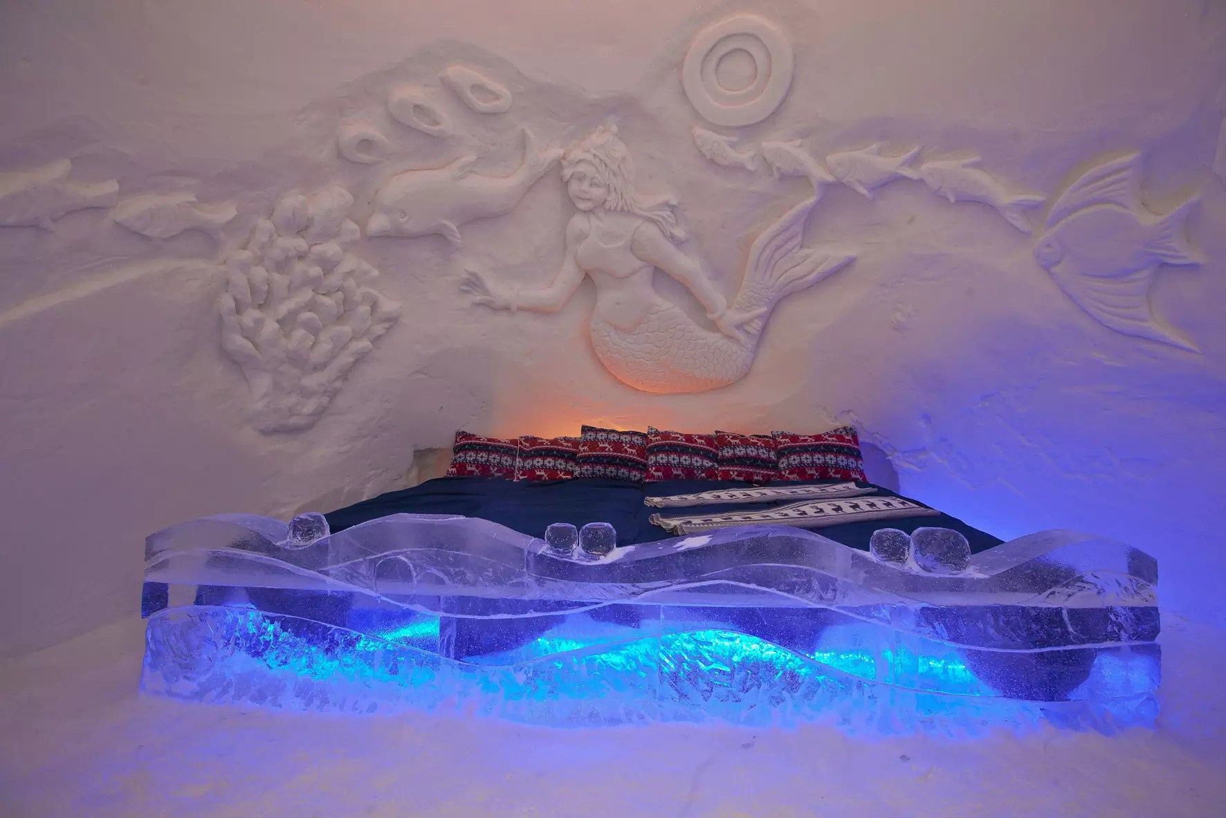 Ice and Snow Hotel - Kirkenes SnowHotel in Kirkenes, Norway - Royalty Free Stock Photo